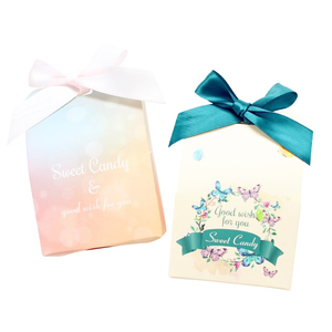 Sweet Colorful Paper Candy Box Gift Wedding Wedding Candy Box Paper, Sweets Box Paper