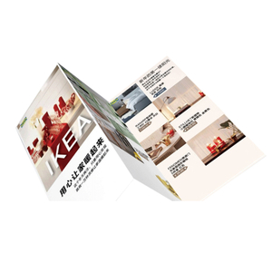 Cheap Custom Printed Advertising Promotional Folding Leaflet Pamphlet Flyer Printing