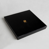 China Printing Factory Make Black Packaging Box With Gold Printed For Women's High Grade Necklace