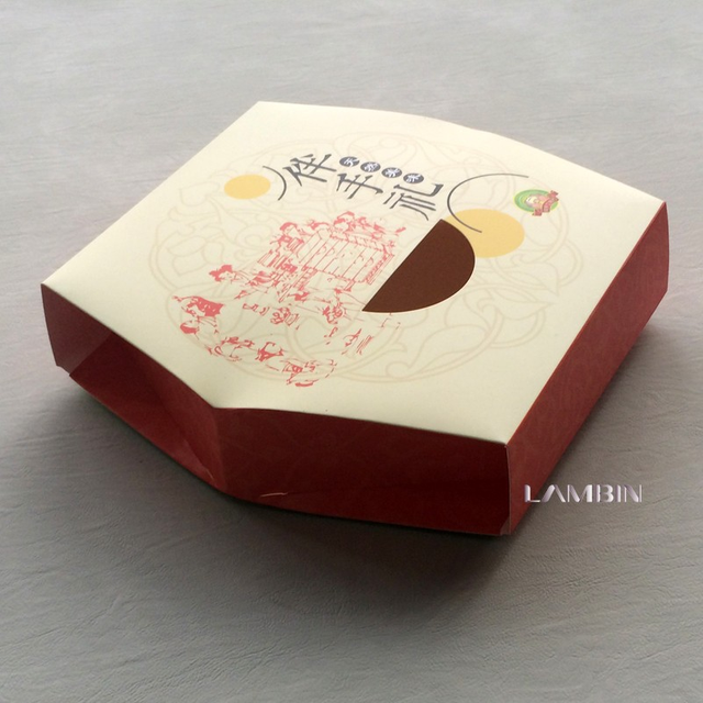 Direct-Supply Food Eco-friendly Safety Paper Packaging Box For Moon Cake