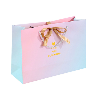 luxury Custom decorative paper cover bags,custom made shopping paper bags