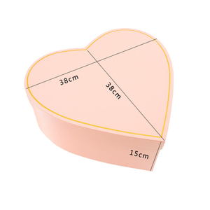new high grade silk love gift box couple's advertisement surprise gift box in heart flower shape