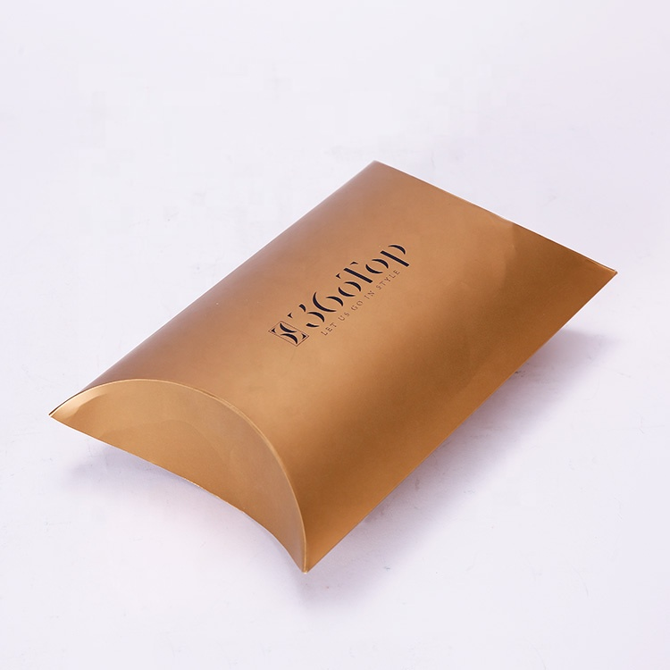 Customized Logo Foldable Pillow Shaped Packaging Gift Paperboard Clothing Box