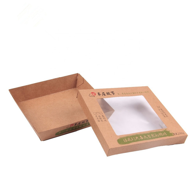 Biodegradable Kraft Paper Takeout Lunch Box for Food