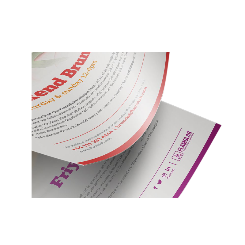 Durable paper advertising sample flyers