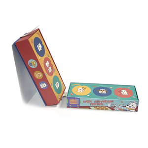 Leather button flap colorful box