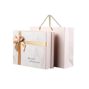 High Quality European Marble Bowknot Rectangle With Hand Gift Wedding Handbag World Cover Gift Box Set
