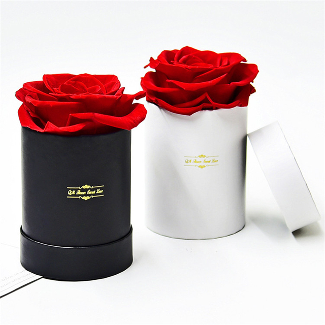 Wholesale cardboard cylinder rose gift packaging luxury flower boxes