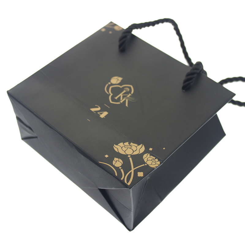 Wholesale Custom Logo White Kraft Gift Craft Shopping Paper Bag With Handles