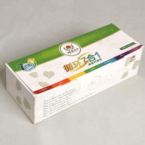 Green Food Coarse Cereals Powder Packaging Box For 7 Days Diet Planning