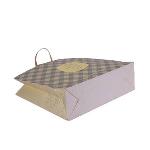 Customized Design High Quality Kraft Paper Shopping Bags With Handle For Gift