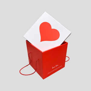 Love portable gift box Valentine's Day snack box square wedding celebration companion gift box