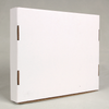 Wholesale Fancy White Folding Box Elegant Scarf Packaging Box Express Box With QR Code For Scarves