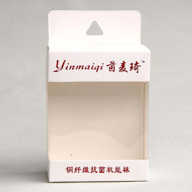 Wholesale Clear Frame Cotton Anti-bacteria Socks Paper Box With Window