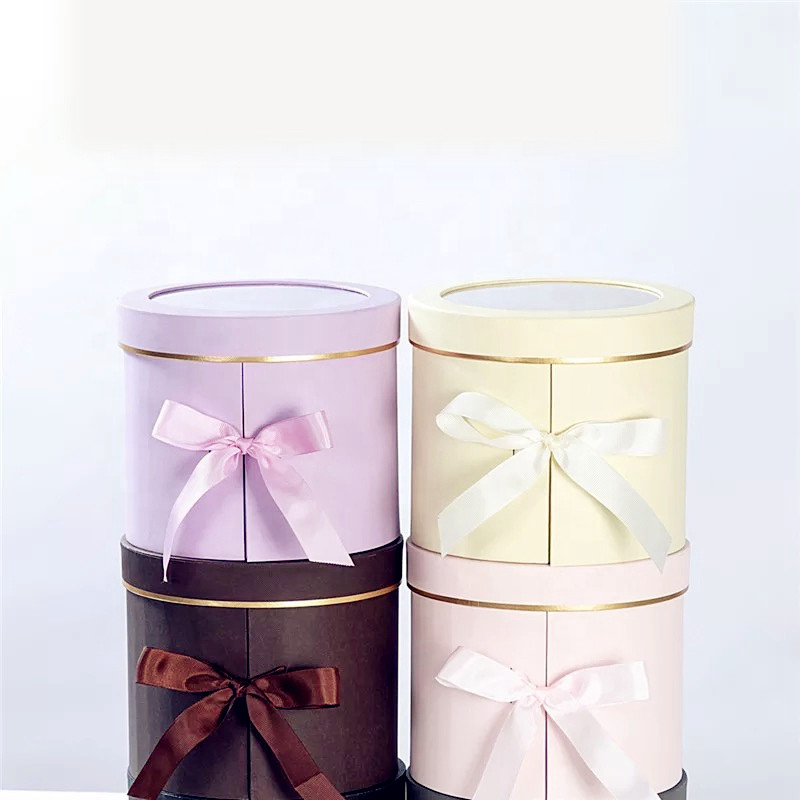 Valentine's Gift Wholesale Hot Sale Gift Packaging Flower Tube Box, Packaging Flower Box With Ribbon