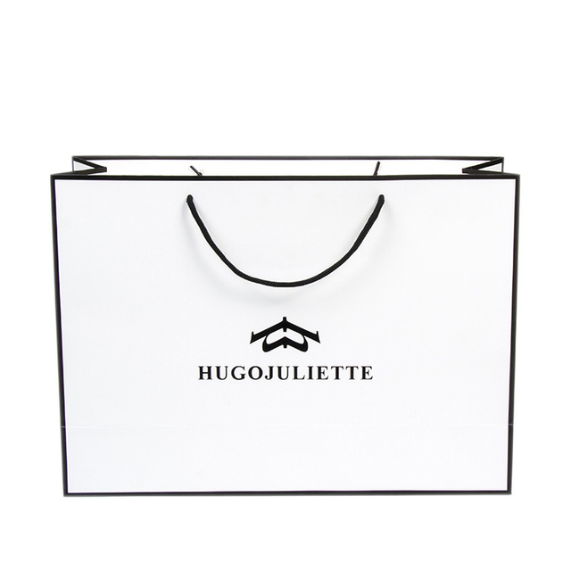 High-end printing thick creative paper bags,paper gift bags with rope handle