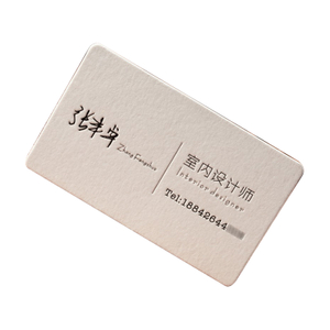 2021 Custom white paper greeting business cards Printing Service