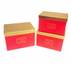 China Supplier Wholesale 3pcs A Lot Plain Flower Packaging Square Gift Box